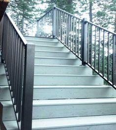 Custom deck stairs by Skyline Deck & Construction. Deck Construction, Deck Stairs, Custom Decks, Covered Decks, Idaho, Pergola, Skyline, Deck Steps, Arbors