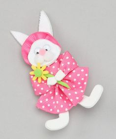 Going to try to make this one!  Take a look at this Pink Flower Bunny Clip by Picture Perfect Hair Bows on #zulily today!