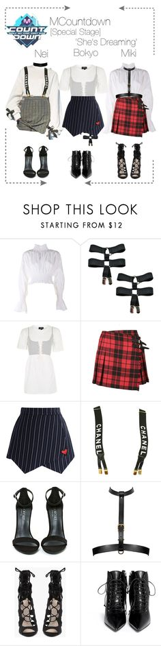 """""""Lunar 음력 [Special Stage] MCountdown"""" by lunar-official ❤ liked on Polyvore featuring Kenzo, Topshop, Burberry, Chicwish, Chanel, Shoe Cult and Giuseppe Zanotti"""