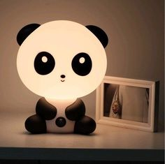 I found 'Asian Kawaii Panda Night Light Desk Lamp Cute Cartoon Baby Small Black White Stationary Super Adorable Animal' on Wish, check it out!