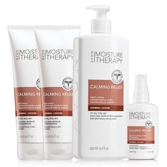 Moisture Therapy Calming Relief is made with pure oatmeal to quickly relieve dry skin itch. Delivers prompt relief from persistent itch associated with dry skin. Smoothes and moisturizes. Dermatologist-tested.Try this collection by following the next steps:1.Cleanse with: •Calming Relief Body Wash -Creamy, soothing cleanser leaves skin feeling healthy. Collection includes 2 body washes, each 8.4 fl. oz. a $8 value each2.Moisturize wi...