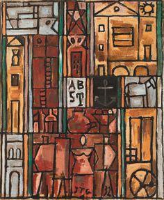 Constructif avec quatre. 1932.  Joaquín Torres García