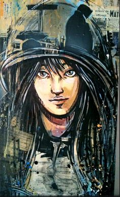 AliCè: Alice Pasquini, principally a visual artist, works as an illustrator,   set designer and painter.  Based in Rome, she has lived and worked in U.K., France and Spain.