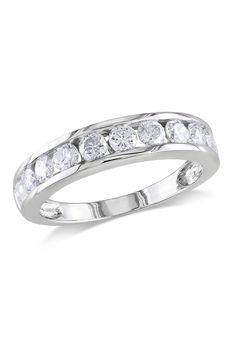 1 CT Diamond Anniversary Ring In 10k White Gold