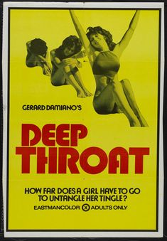 Film poster for Deep Throat Vintage Movies, Vintage Posters, Vintage 70s, Cinema Posters, Movie Poster Art, Classic Movies, Pulp Fiction, Film Movie, Golden Age