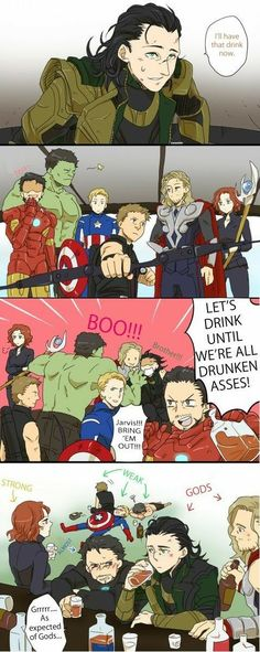 Can I say one thing Captain America can't get drunk :p