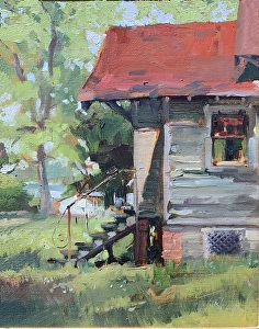 Weathered by Jane Chapin Oil ~ 10 x 8