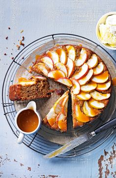 Sticky toffee apple cake.