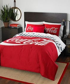 Shop for The Northwest Company Coca-Cola Bottles Twin/ Full Comforter Set. Get free delivery On EVERYTHING* Overstock - Your Online Fashion Bedding Store! Full Comforter Sets, Bedding Sets, Pillow Shams, Pepsi, Coca Cola Decor, Sports Bedding, Always Coca Cola, World Of Coca Cola, Sodas