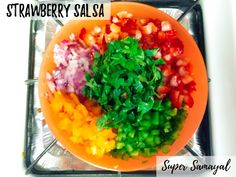 Tangy Strawberry Salsa Strawberry Salsa, Tangier, Fruits And Veggies, Allrecipes, Ethnic Recipes, Food, Strawberry Fruit Dips, Fruits And Vegetables, Strawberry Sauce
