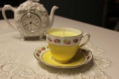 """This Adderley """"Lawley"""" is a gorgeous vintage teacup that looks and smells amazing with our carefully selected essential oils. Teacup Candles, Organic Essential Oils, Candle Making, Bone China, Allergies, Tea Cups, Pure Products, Amazing, Tableware"""