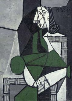"""Pablo Picasso - """"Seated Woman"""". 1953"""