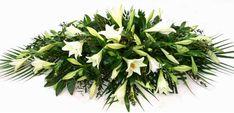 Funeral FlowersWhite Lily Coffin Spray - Longiflorum