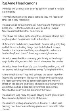I don't ship this but it's adorable and I love russia and america with other people though.