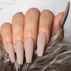 Uploaded by ashrose90. Find images and videos about nails, beige and matte on We Heart It - the app to get lost in what you love. Classy Acrylic Nails, Acrylic Nails Coffin Short, Best Acrylic Nails, Coffin Nails, Beige Nails, Neutral Nails, Matte Nail Colors, Ongles Beiges, Nagellack Design