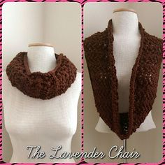 Lacy Infinity Scarf free knitting pattern - The Lavender Chair