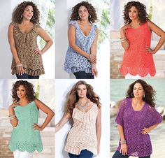 Plus Size Crochet Tunics