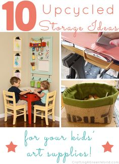 10 Recycled Kid Art Supply Storage Ideas