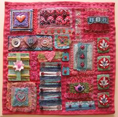 Dyed Embellishments for Fabric Collage QA tutorial by Beryl Taylor ( I LOVE her work) Patchwork Quilting, How To Dye Fabric, Fabric Art, Paper Piecing, Fabric Embellishment, Creative Textiles, Fabric Journals, Artist Trading Cards, Mini Quilts