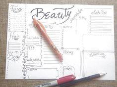 beauty bujo journal make up blogger planner beauty treatments routine printable diy organizer notebook journal download lasoffittadiste