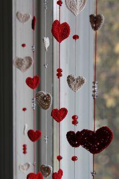 Sta piovendo amore Crochet & tenda di cristallo o Mobile