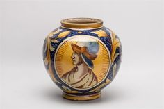 Lot 351 - A SIMILAR 19TH CENTURY ITALIAN OVOID MAIOLICA VASE in the style of Cantagalli, 23cm high