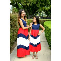 CLEARANCE for 1 dress only, red white and blue maxi dress, american... ($17) ❤ liked on Polyvore featuring dresses, summer dresses, blue and white maxi dress, red day dress, red summer dress and red white and blue dress