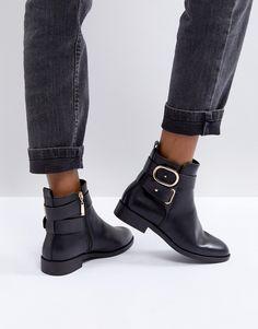 Miss KG Trinny Flat Ankle Boots - Black