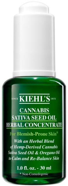Kiehl's Cannabis Sativa Seed Oil Herbal Concentrate is a lightweight, calmative facial oil formulated with Cannabis Sativa Seed Oil. Non Comedogenic Oils, Oregano Oil, Alcohol Free Toner, Herbal Oil, Scented Oils, Face Oil, Seed Oil, Cannabis, Medical Marijuana