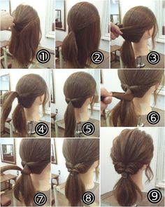 15 Easy to Do Everyday Hairstyle Ideas for Short, Medium & Long Hairs ヘアアレンジ Half Pony Hairstyles, Work Hairstyles, Everyday Hairstyles, Pretty Hairstyles, Braided Hairstyles, Hairstyle Ideas, Medium Long Hair, Medium Hair Styles, Short Hair Styles