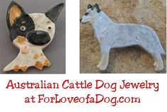 Handmade artisan Australian Cattle Dog jewelry at ForLoveofaDog.com