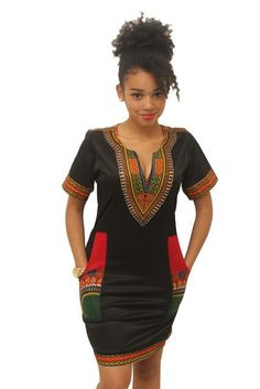 2017 Summer Mini Dress African Traditional Print Fitted Sexy bodycon  Dashiki Dresses Women Vintage Black Casual b61e770c32dd