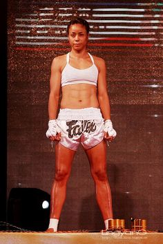 In 2007, Miriam was on the hit reality TV show, Fight Girls, which aired on the Oxygen Channel. There her intriguing personality and colorful past provided for a powerful and inspirational story that was immediately popular with fans. Overcoming challenges and obstacles has always been a recurrent theme in her life and she is constantly striving to expand and grow not only as a fighter, but more importantly, as a human being, all of which was evidenced in the show. Kick Boxing, Boxing Workout, Mma, Culture Of Thailand, Muay Thai Martial Arts, Self Defense Women, Muay Thai Training, Female Martial Artists, Contact Sport