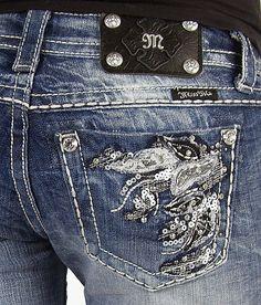 Miss Me Applique Boot Stretch Jean - Women's Jeans   Buckle