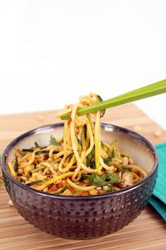 Vegetarian Zucchini Noodle Pad Thai - SUBSTITUTE your favorite artificial sweetener for the honey in this recipe. Scroll to the bottom of the page to get to the recipe. Also this recipe has eggs in it for those who are vegans.