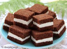 Prajitura Kinder Felie de Lapte - Desert De Casa - Maria Popa Mini Desserts, Vegan, Houses, Sweets, Fine Dining, Vegans