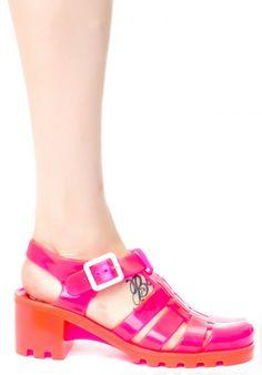 metallic silver glitter Juju jellies shoes  Babe Jelly