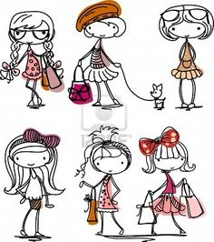 Print and cut girly sketches