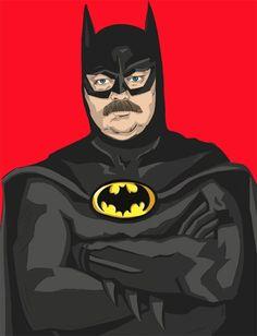 See the Parks and Recreation Cast As the Justice League Batman Love, Im Batman, Dc Comic Books, Comic Book Characters, Fictional Characters, Parks N Rec, Parks And Recreation, Justice League, It Cast