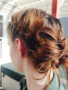 French braid into messy bun French Braid, Messy Bun, Braid Styles, Braided Hairstyles, Your Hair, Braids, Dreadlocks, Face, Beauty