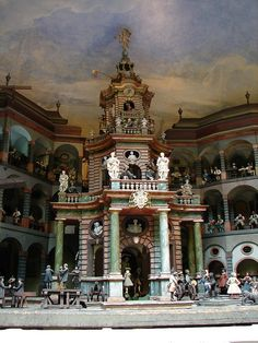 "Hellbrunn Palace,Gardens, Salzburg, Austria -Mechanical ""doll house"" where all the figures moved, powered by water"