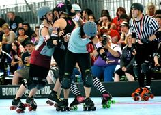 Bout 2 of the West Region Playoffs: Arizona vs Sacred City, Photo by Donalee Eiri, Photography by D.E.sign. The second bout of the day brought the first seeding upset, as the Sacred City Derby Girls (#10) put away a solid win over Arizona Roller Derby (#7). AZRD's Tent City Terrors lost some key team members to Oly in a controversial player transfer that occurred after the tournament seeding was completed, but within the limits of current WFTDA rules. Final Scores: Sacred City 242,  Arizona…