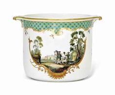 A MEISSEN TWO-HANDLED WINE-COOLER FROM THE HUNTING SERVICE MADE FOR CATHERINE THE GREAT OF RUSSIA
