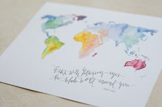 watch with glittering eyes the whole world around you - roald dahl map