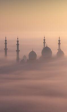Sheikh Zayed Mosque, Abu Dhabi, By Khalid Al Hammadi Islamic Wallpaper Iphone, Quran Wallpaper, Mecca Wallpaper, Islamic Quotes Wallpaper, Wallpaper Toronto, Islamic Images, Islamic Pictures, Mekka Islam, Muslim Pictures