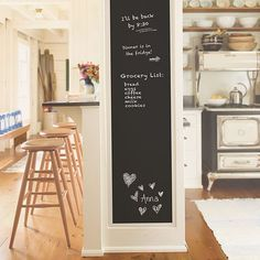 Wall Decal,Chalkboard Wall Sticker, DIY Vinyl Chalkboard Removable Blackboard Wall Sticker Decal PVC Wall Decal Self Adhesive DIY Reusable Erasable Restaurant Home Office with 5 Free Chalks Kids Chalkboard, Kitchen Chalkboard, Blackboard Wall, Vintage Chalkboard, Black Chalkboard, School Chalkboard, Chalkboard Doors, Chalkboard Stickers, Decorating Rooms
