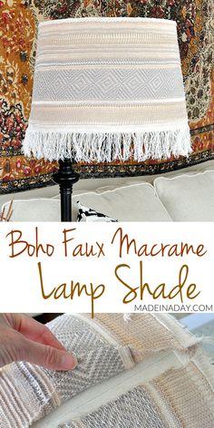 5 Enthusiastic Tips AND Tricks: Cool Lamp Shades Diy square lamp shades floors.Antique Lamp Shades Metallic Lace old lamp shades house.Small Lamp Shades How To Make. Old Lamp Shades, Painting Lamp Shades, Modern Lamp Shades, Rustic Lamp Shades, Covering Lamp Shades, Trash To Couture, Bohemian Lamp, Boho Diy, Cool Ideas