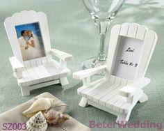 Échouez les cadeaux miniatures Co Ltd.@ http://www.BeterWedding.com de la vue SZ003 Changhaï Beter de carte/photo d'endroit de chaise d'Adirondack de mémoires