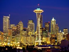 Seattle Space Needle | LUCES NOCTURNAS, LAS ADOROOOOOO !!!!! ♥♥ - Univision Foro / Forum ...