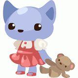 Sweet cat doll